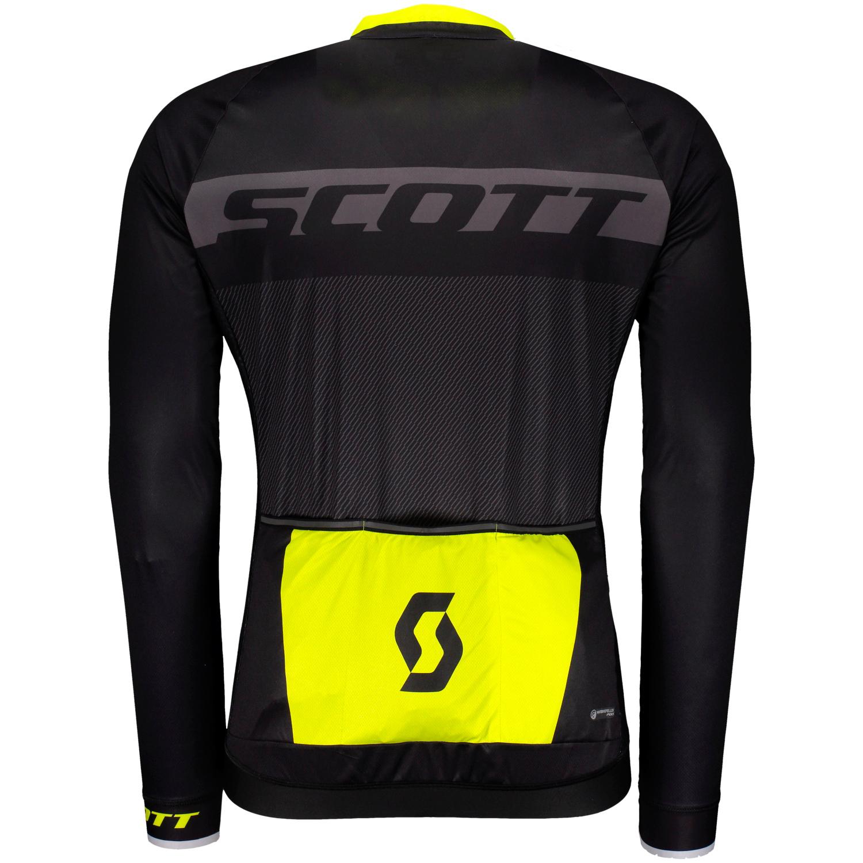 Scott RC Pro bici camiseta corto negro//amarillo 2018
