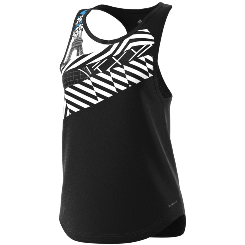 busto Cooperativa Inconcebible  Camiseta Tirantes Paris Color Black Adidas/tenis/padel DV2972   RG Bikes