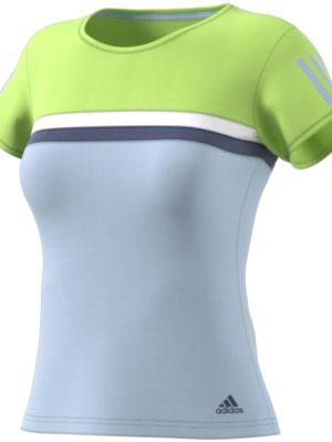 camiseta-deportiva-padel-tenis-chica-mujer-adidas-club-aero-azul-verde-ce0376-rg-bikes-silleda