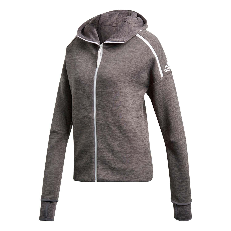 adidas chaqueta capucha gris