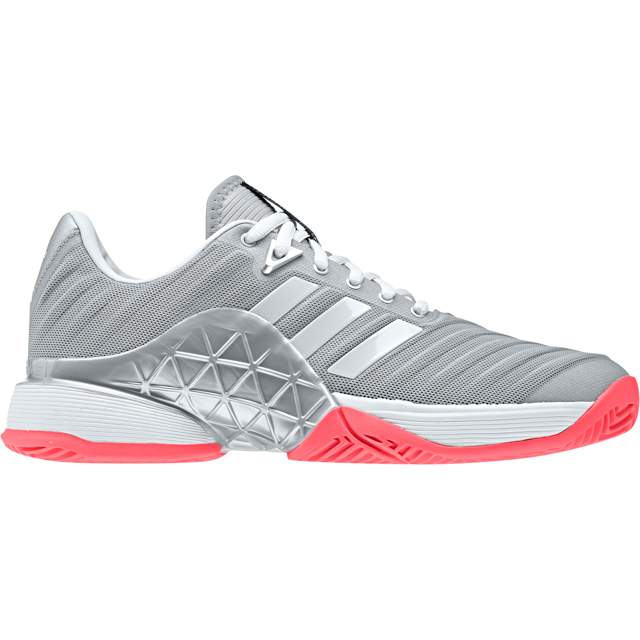 Zapatilla Barricade 2018 W chica Color Matte Silver/white/flash Red  Adidas/tenis/padel AH2097