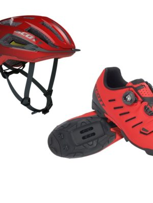 kit-rojo-casco-zapatillas-scott
