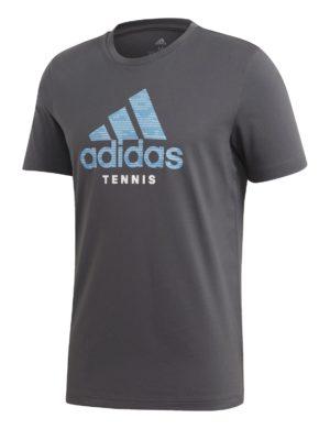 camiseta-manga-corta-adidas-padel-tennis-adidas-category-logo-t-gris-fm4417-rg-bikes-silleda