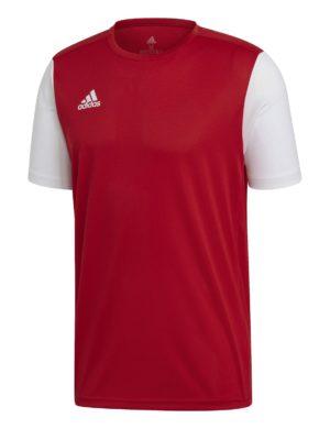 camiseta-manga-corta-adidas-padel-tennis-adidas-estro-18-rojo-blanca-dp3230-rg-bikes-silleda