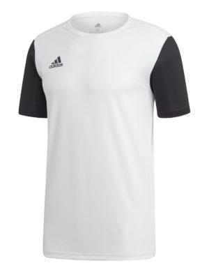 camiseta-manga-corta-adidas-padel-tennis-adidas-estro-blanca-negro-dp3234-rg-bikes-silleda