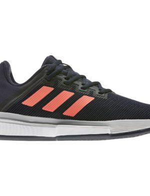 zapatillas-adidas-chica-mujer-padel-tennis-adidas-solematch-bounce-w-clay-negro-naranja-eg2220-rg-bikes-silleda